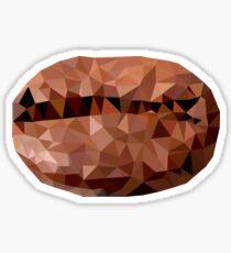 polygonal coffee bean Sticker