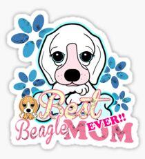 Cute Best Beagle Mom Ever Sticker