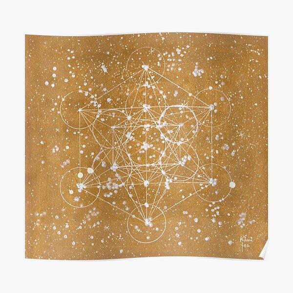 Metatron's Cube GOLD Poster