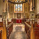 Knowlton Church Chancel by Dave Godden