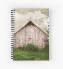 Sweet Weathered Red Barn Spiral Notebook