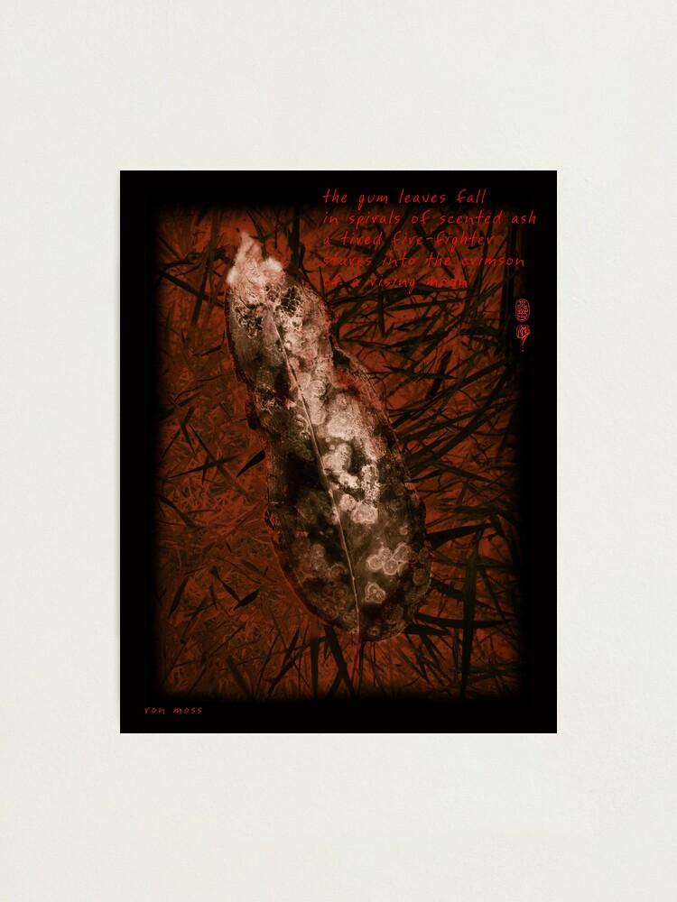 Alternate view of Crimson Moon Photographic Print