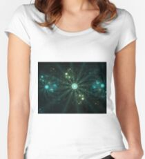 Shower of Bubble Flowers 2 Women's Fitted Scoop T-Shirt