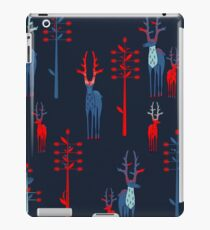 The deer antlered and fantasy trees iPad Case/Skin