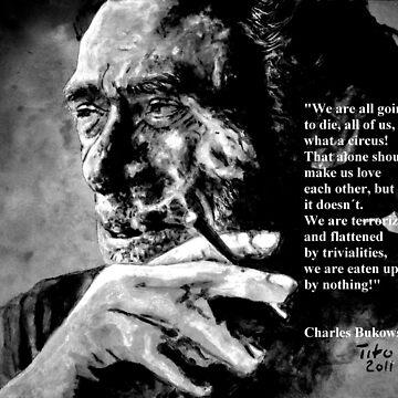 Charles Bukowski - black - quote by ARTito