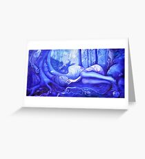 Sleeping in the Forest Greeting Card