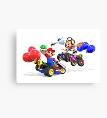 mario bross and splatoon   Canvas Print
