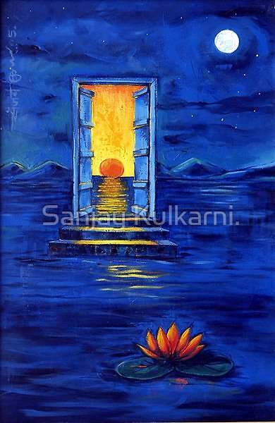 'The Ray of Hope' size 24 by 36 inches by Sanjay Kulkarni.