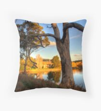 View from the hill at Appletree Cottage Throw Pillow