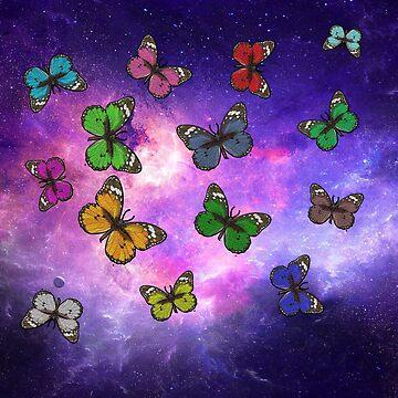 Universe Butterflies by TeeGrayWolf