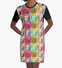 Andy Warhol Monroe Graphic T-Shirt Dress