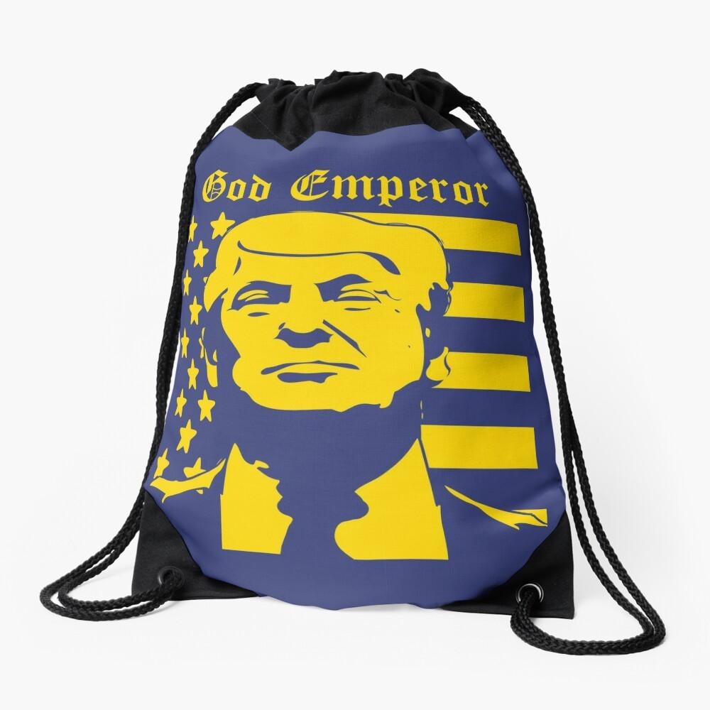 Trump - God Emperor Drawstring Bag