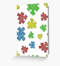 Puzzle Piece Pattern Greeting Card