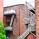 Balconies and Staircases, Charlottetown, PEI, Canada by Shulie1