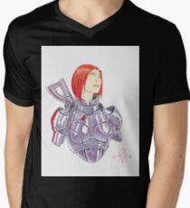 Mass Effect Commander Shepard FemShep Fan Art Bust T-Shirt