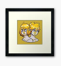 Bloody Nose - Yellow Framed Print