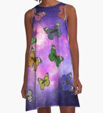 Universe Butterflies A-Line Dress