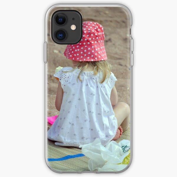 Sand Castle Girl iPhone Soft Case