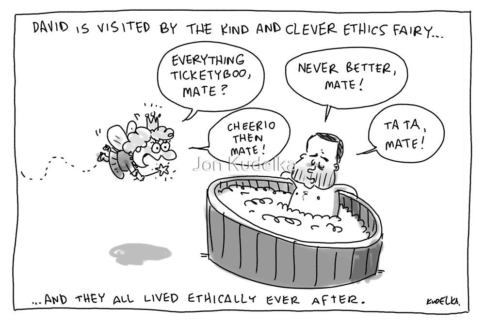Bartlett and the Ethics Fairy by Jon Kudelka