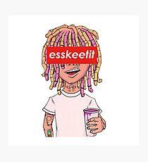 Lil Pump - ESSKEETIT box logo Photographic Print