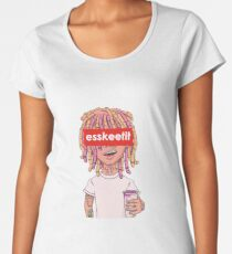 Lil Pump - ESSKEETIT box logo Women's Premium T-Shirt