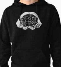 Into the Jaws of Death Into the Mouth of Hell Pullover Hoodie