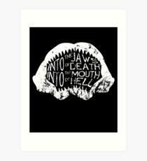 Into the Jaws of Death Into the Mouth of Hell Art Print
