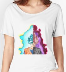 Goku Blue God & Black Goku Rose Women's Relaxed Fit T-Shirt