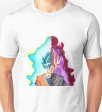 Goku Blue God & Black Goku Rose T-Shirt
