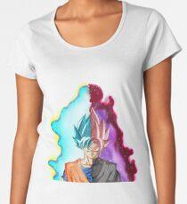 Goku Blue God & Black Goku Rose Women's Premium T-Shirt