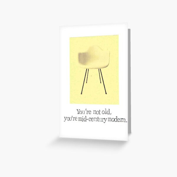 Midcentury Modern  Greeting Card