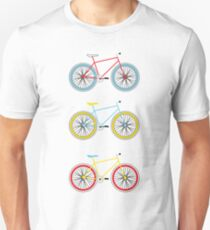 Bicycles in Primary Colors T-Shirt