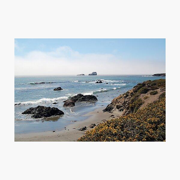 Fog Rolling Coastal Photographic Print