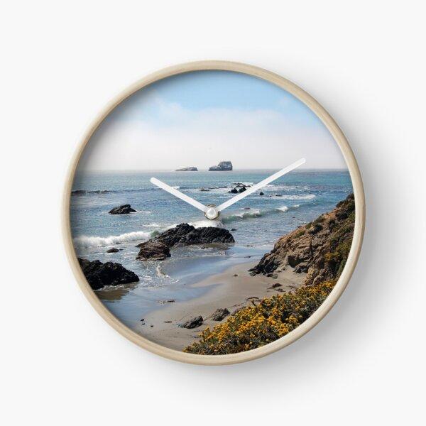 Fog Rolling Coastal Clock