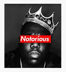 NOTORIOUS BIG T-SHIRT Photographic Print