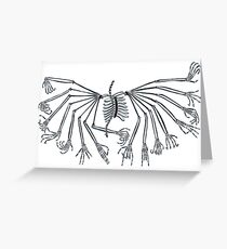 The Skeleton 16 Hand Mudras X-ray Greeting Card