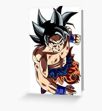 Goku Power UP Greeting Card