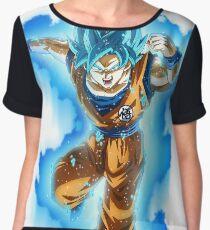Goku Blue God Women's Chiffon Top