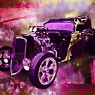 1934 Ford Coupe Hot Rod Acrylic Illustration by ChasSinklier