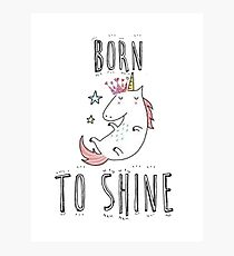 born to shin Photographic Print