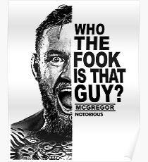 conor mcgregor ( half face quote) Poster