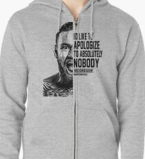 conor mcgregor ( half face quote) Zipped Hoodie
