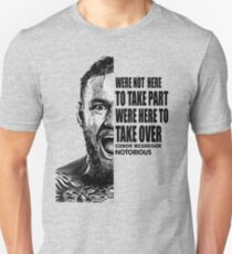 conor mcgregor ( half face quote) Unisex T-Shirt