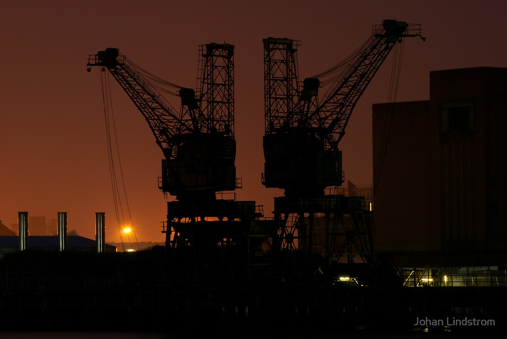 Two cranes by Johan Lindstrom