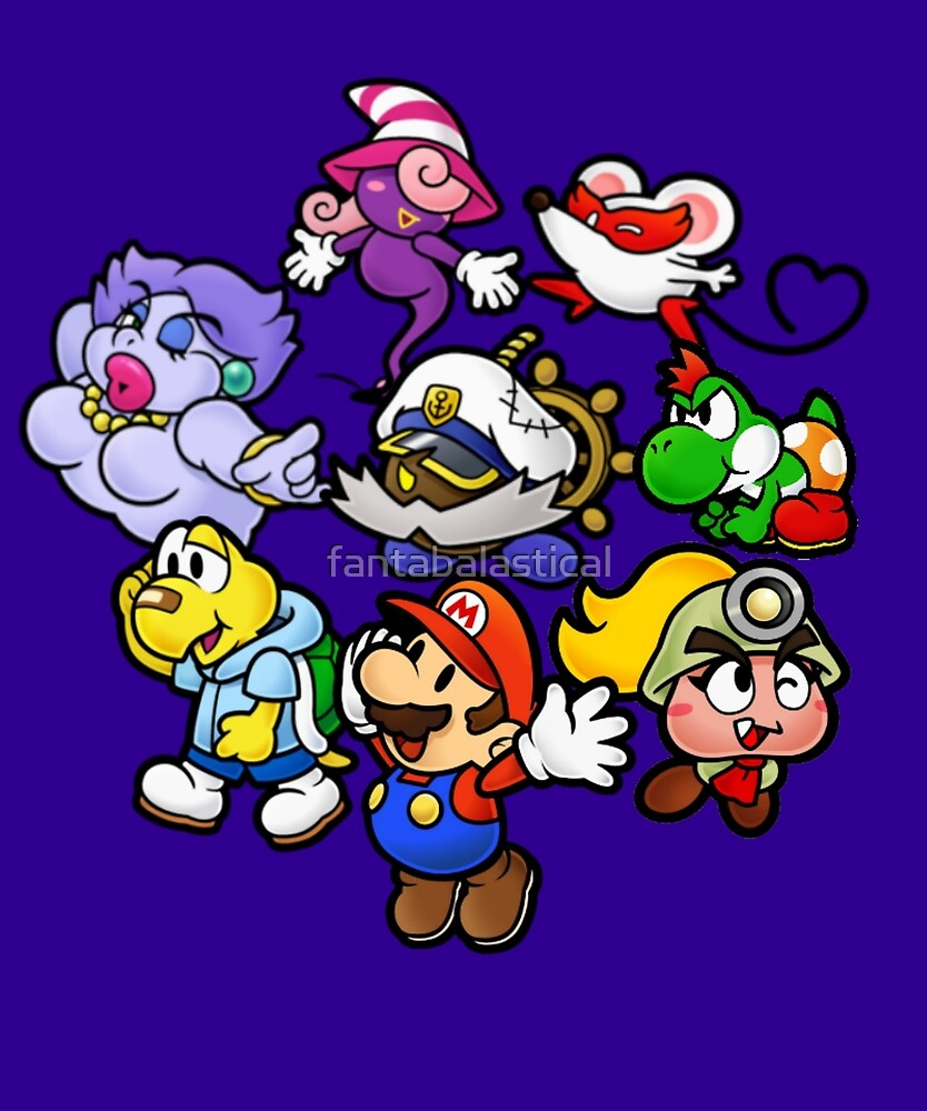 Paper Mario and the Thousand Year Door Team by fantabalastical