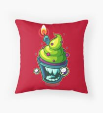 Excited Edible Throw Pillow