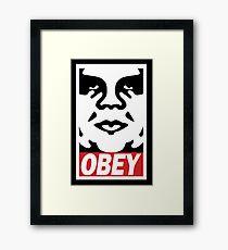Obey-giant Framed Print
