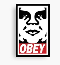 Obey-giant Canvas Print