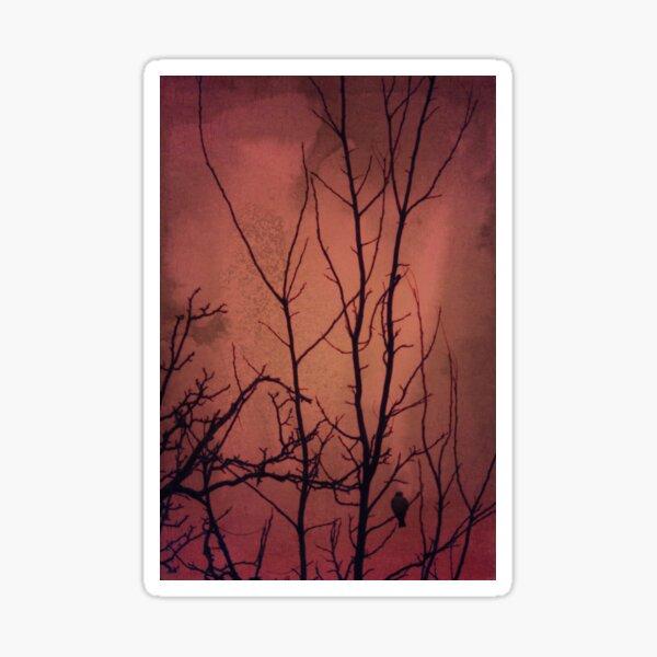 Red sky at night Sticker