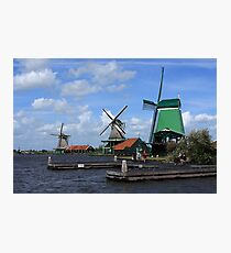 Three Windmills Photographic Print